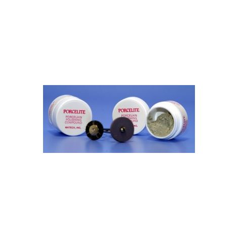 Porcelite Porcelain Polishing Compound (4g jar + wheel & brush)
