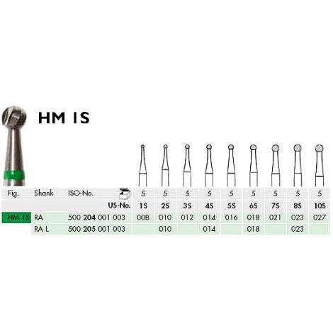 RA S Round Carbide Burs (Meisinger)