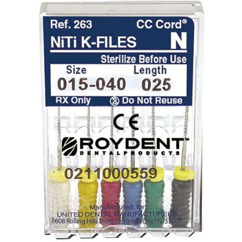 NiTi K-Files Size 15-40 25 mm 6/Pack