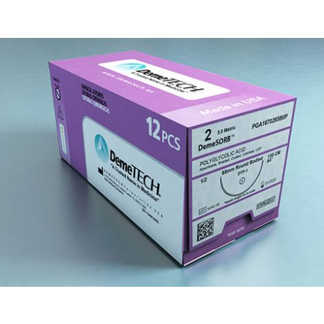 DemeSORB PGA (Polyglycolic Acid) Coated Sutures (DemeTECH)