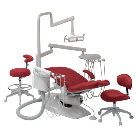Evergreen Dental Operatory System with L-2000 Operatory Light, Less Chair, Chair Bracket and Stools