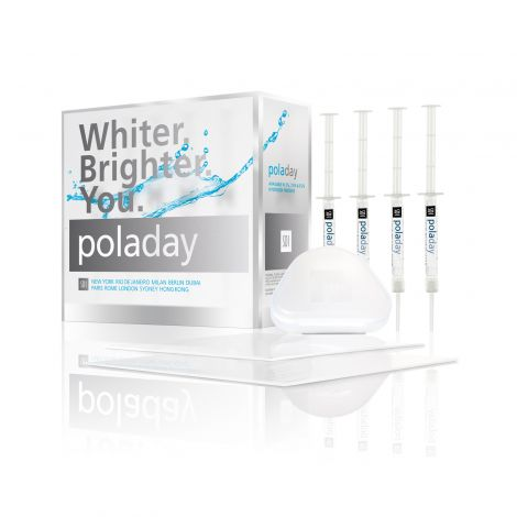 Pola Day 3% Hydrogen Peroxide 10 Syringe Kit (10 x 1.3g Pola Day syringes, 2 tray material, 1 x tooth container, 10 tips, accessories)