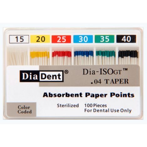 Tapered Dia-ISOGT .04 Paper Points (DiaDent)