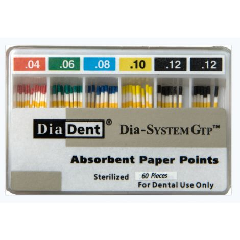 Tapered Dia-System GTP Paper Points (DiaDent)