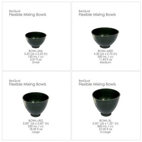 Flexible Mixing Bowls (Meta Dental)