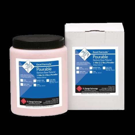 Excel Formula® Pourable Denture Base Material (St. George Tech, Inc)