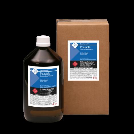 Excel-P Formula Pourable Denture Base Material Liquid Only, 1 Litre (1 Quart)