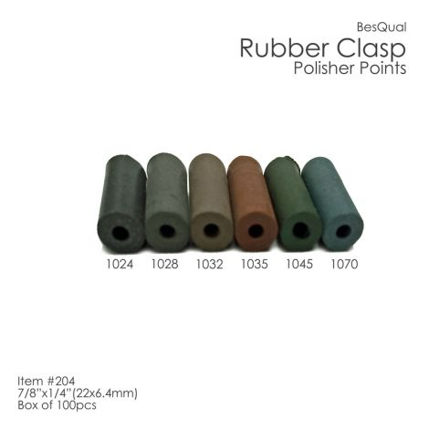 Rubber Clasp Polishing Points / Unmounted (Meta Dental)