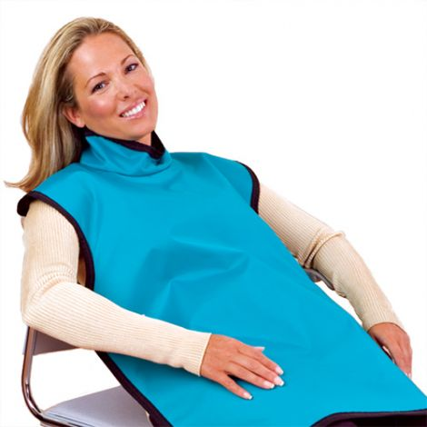 Lead-free Protective Adult Bib Apron With Attached Collar (Flow Dental)