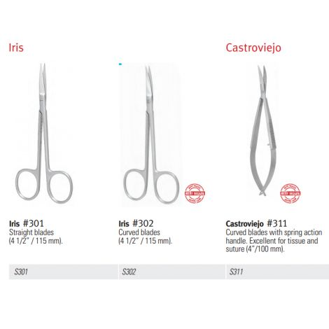 "Scissors, Straight Suture, 6 1/4"" (160mm)"