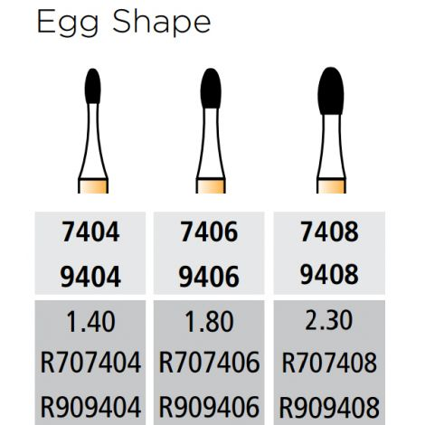 T & F Alpen Carbide Egg Shape (Coltene/Whaledent)