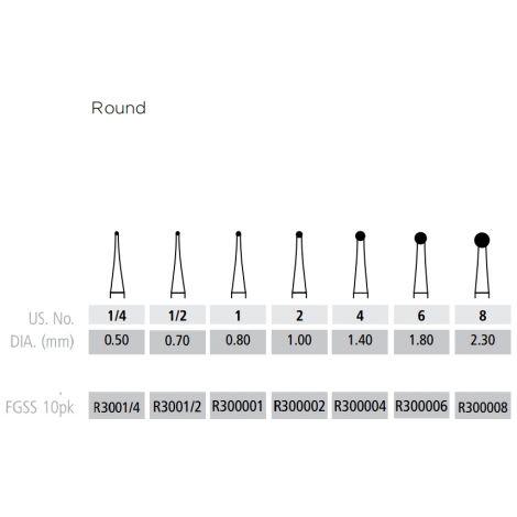 Round Burs FG-Short Shank (Coltene/Whaledent)