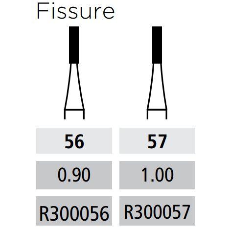 Plain Fissure Straight FG - Short Shank (Coltene)