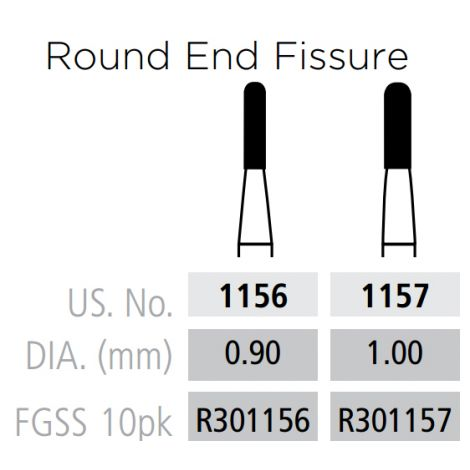 Plain Fissure - Rounded End FG-Short Shank (Coltene)