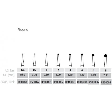 Round Burs FG-Surgical Length (Coltene)