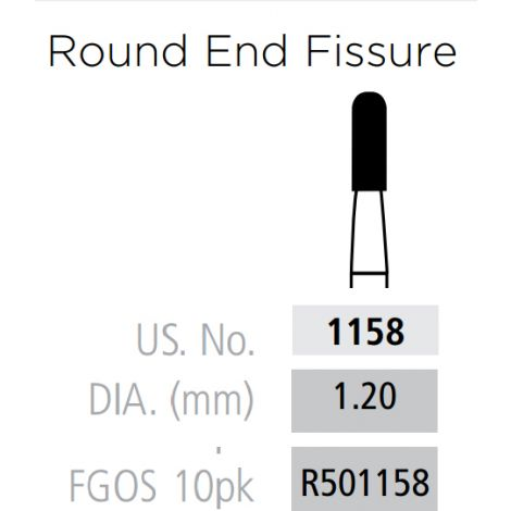 Plain Fissure - Rounded End FG-Surgical Length (Coltene)
