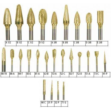 KeyGold Carbide Burs (Keystone)