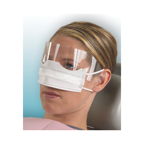Patient Safety Mask with Splash Shield (Crosstex)