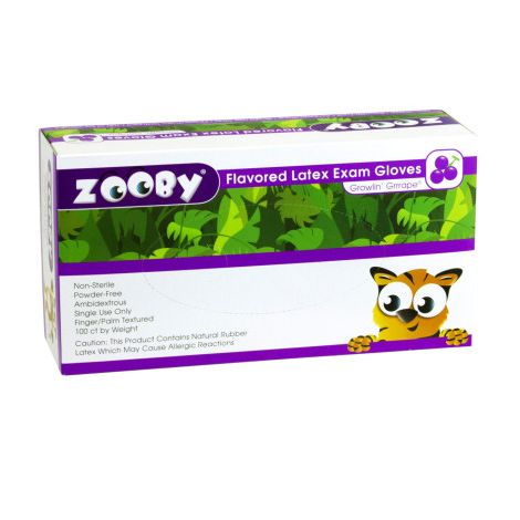 Zooby Flavored Latex Exam Gloves (Young)