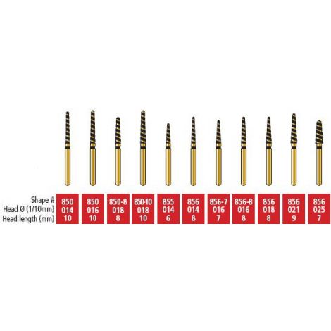 Round End Taper  - Alpen Swiss Gold Diamond Burs (Coltene)