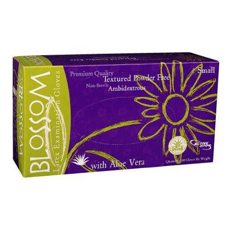Blossom Powder Free Textured Latex Exam Gloves with Aloe Vera (Mexpo)
