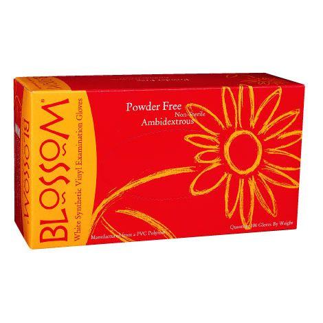 Blossom Powder Free White Vinyl Exam Gloves (Mexpo)
