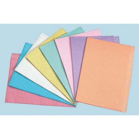 2-Ply Polybacked Patient Bibs, Peach