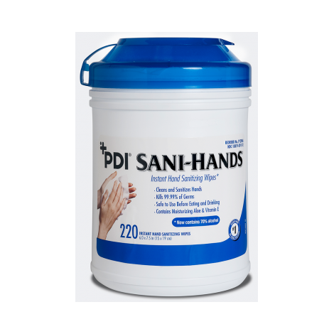 Sani-Hands® ALC Antimicrobial Alcohol Hand Wipes (Crosstex)