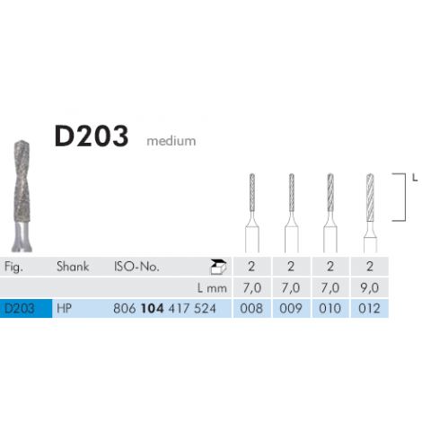 Diamond Coated Twist Drill  D203 HP (Meisinger)