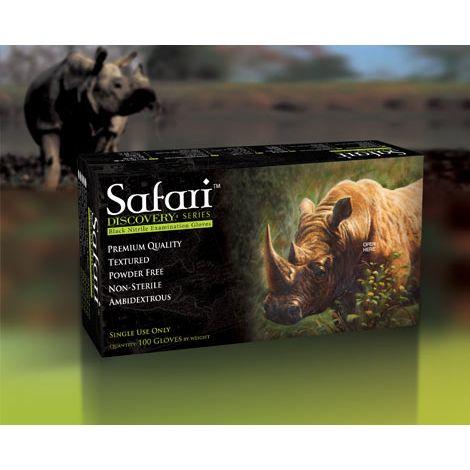 SAFARI® Powder Free Black Nitrile Exam Gloves (Mexpo)