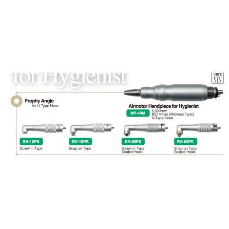 Airmotor Handpiece for Hygienist. Prophy Angle for U-Type Nose (Nakamura Dental)