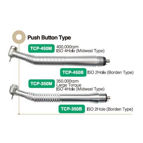Push-Button Chuck, Standard Head, 400,000rpm, ISO 2 holes