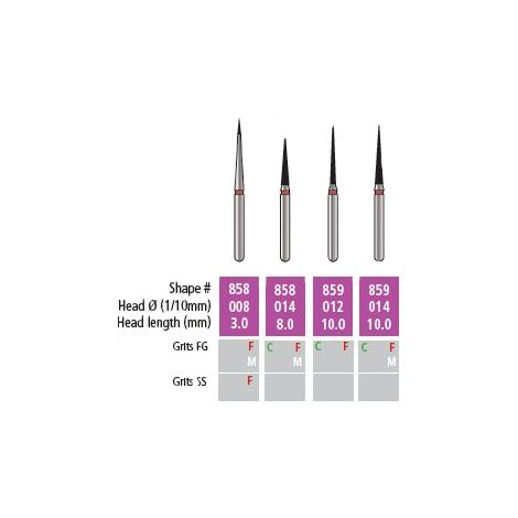Alpen x1 Needle Diamond Burs (Coltene)