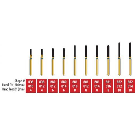 Round End Cylinder Diamond Burs (COltene)