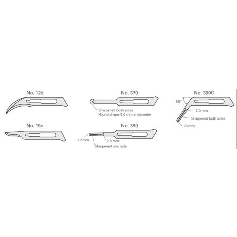 Feather Surgical and Microsurgical Blades (J. Morita)