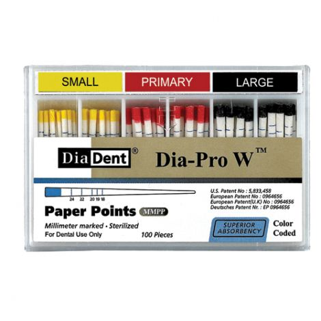MM Marked Dia-PRO W Paper Points (DiaDent)