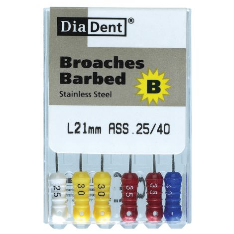Barbed Broaches 25mm (DiaDent)