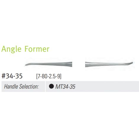 Angle Former, DE, #34-35 (7-80-2.5-9) DuraLite ColorRings Handle