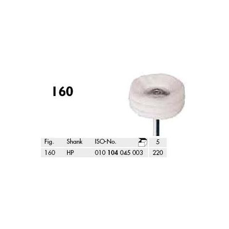 Polishing Felt Brushes, 3-ply 160-220HP Pk/5