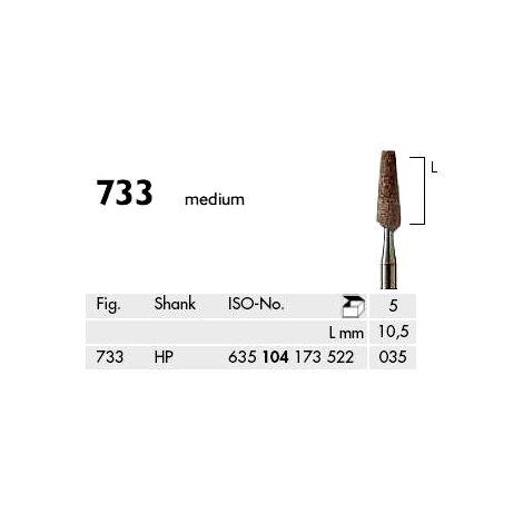 Flat End Taper Abrasives for Model Casting Brown Medium (Meisinger)