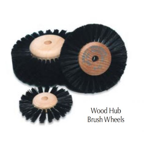 "No. B14, 2"" Diameter, 2 Converging Rows Abb-Rob Wood Hub Brush"