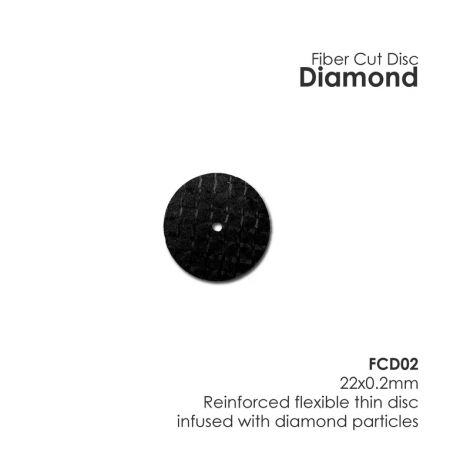 Diamond Fiber Disc (Unmounted) (Meta Dental)