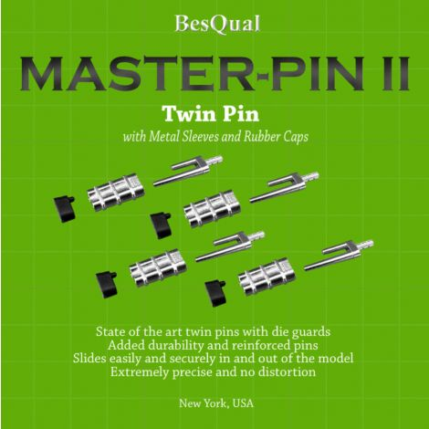 Master Pin II - Double/Twin Pin with Metal Sleeves (Meta Dental)