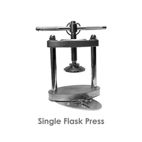Chrome Single Denture Flask Press (Meta Dental)