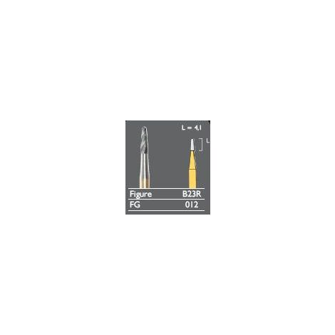 Black Cobra Plain Tapered Fissure - Rounded End Carbide Burs (Meisinger)