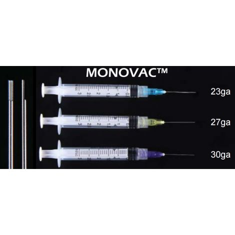 Monovac Irrigation Pre-Tipped 3cc Syringes (Plasdent)