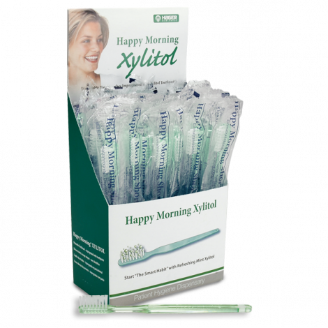 Happy Morning Disposable Toothbrush with Xylitol (Hager)