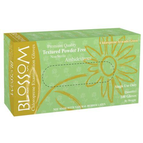 Blossom Avocado Green Powder Free Textured Chloroprene Exam Gloves (Mexpo)