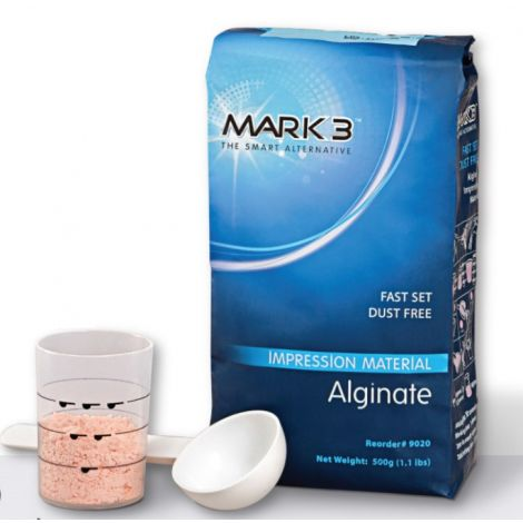 Alginate Dustfree Fast Set 500g/1.1lbs (Includes Scoop and Measuring Cup)