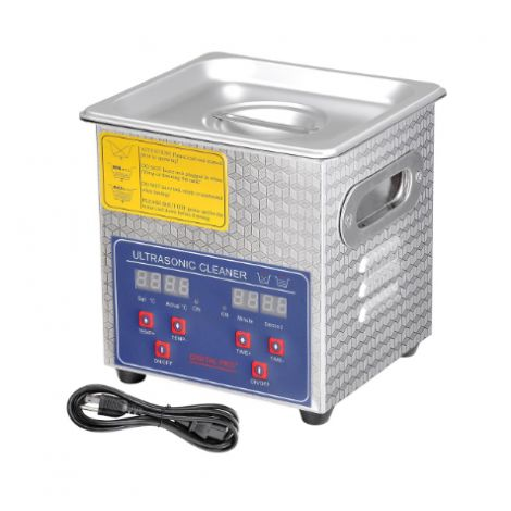 Stainless Steel Commercial Ultrasonic Cleaner 2L w/ Digital Timer Heater